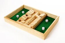 2 player Wooden Shut the box game