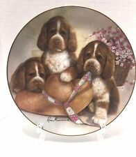 Danbury Mint Bonnet And Bows Puppy Pals Ruane Manning Collectible Plate 1989