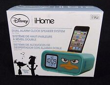 Disney iHome Phineas Ferb Dual Alarm Clock and  iPod Speaker Dock, DM-H22.3