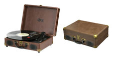 """Portable USB Enabled Turntable, Suitcase Turntable 14"""" Record Player QFX"""