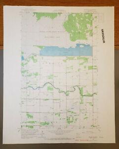 "Badger NE, Minnesota Original Vintage 1966 USGS Topo Map 27"" x 22"""