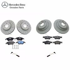 Mercedes E250 CDI EU Front & Rear Brake Disc Rotors with Pads & Sensors Genuine