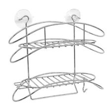 Stainless Steel Shower Caddy Bath Organizer Shelf Wire Basket Suction Cup UKED