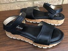 Skechers Black Memory Foam Flat Cork Sandals Women's Size 7