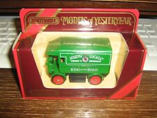 MATCHBOX MODELS OF YESTERYEAR COLLECTION - Y-29 1919 WALKER ELECTRIC VAN - 1986