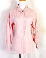 euc Polo Ralph Lauren Country Pink Geometric Striped Blouse Button Down Shirt 4