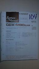 Pioneer cdx-m90zar service manual original repair book stereo cd player