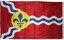 City of St Louis Flag 3x5 ft Double Sided same both sides Missouri MO Saint Two
