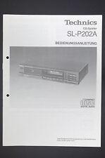 Technics sl-p202a Original CD Player Manual/User / OWNER `s Manual