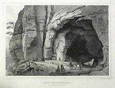 SÄCHSISCHE SCHWEIZ - Kuhstall - Poppel nach Koehler - Stahlstich 1862