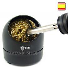 Limpiador de punta profesional soldador eléctrico estaño esponja cobre alambre