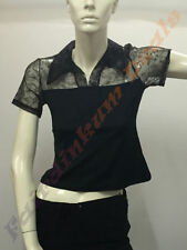 Regular Lace Casual Short Sleeve Tops and Blouses for Women
