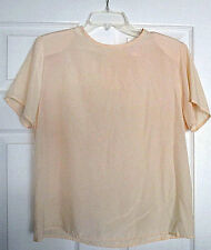 Women's Short Sleeve Creamy Blouse by Kirsten Grey Size Small: