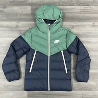 NIKE NSW WINDRUNNER DOWN FILL HOODED PUFFER JACKET COAT SIZE SMALL 928833-362