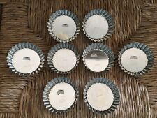 SET OF 8 ROUND MINI FLUTED TART PANS REMOVABLE BOTTOMS FRANCE NWT
