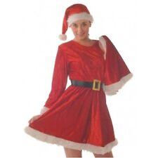 MRS SANTA CHRISTMAS DRESS CAPE HAT AND BELT NEW