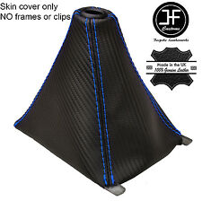 BLUE STITCH CARBON FIBER VINYL GEAR GAITER FITS HONDA CIVIC & TYPE R 89-00