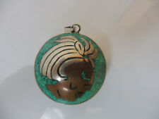 Beautiful, Old Pendants __925 Silver __ M.Turquoise __5cm__ MEXICO__INDIAN_