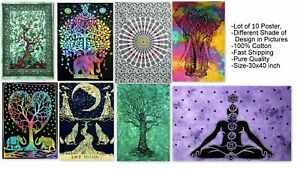 10 Pcs Mandala Tapestry Wall Hanging Throw bedding Cotton Poster Wholesale Lot