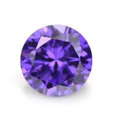 Purple Sapphire 10.57Ct 12MM Round CUT AAAAA Loose Gemstone