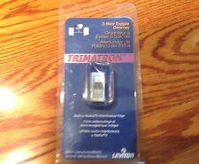 New Leviton 6643-W White 600W 120Vac Trimatron 3-Way Toggle Incandescent Dimmer