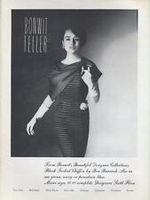 1962 Bonwit Teller PRINT AD features Ben Barrack fine fashion dress