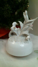Music Box Ceramic Porcelain Mother Goose looking over her babies