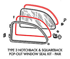 New VW Type 3 Pop-Out Window Seal Kit Inner & Outer Notchback Squareback