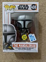Funko POP! Star Wars | The Mandalorian Flying w/ Blaster GITD Gamestop Exclusive