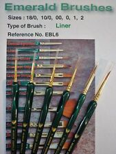 A Set of 6 Liner Quality Watercolour Brushes. Sizes 18/0  -  2.  Ref: EBL6