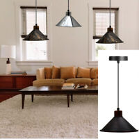 Vintage Industrial Loft Style Metal Ceiling Hanging Pendant Light Lamp shades UK