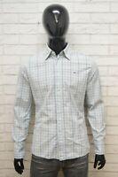 Camicia Uomo TOMMY HILFIGER Denim Taglia M Maglia Polo Shirt  Hemd Cotone Quadri