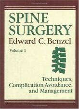 Spine Surgery: Techniques, Complication Avoidance, and Management (2-Volume Set)