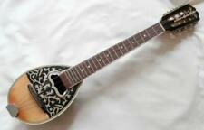 More details for vintage greek bouzouki (tetrachordo) with mother of pearl inlay & shellac finish