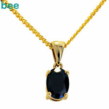 Gold Yellow Gold Sapphire Fine Necklaces & Pendants