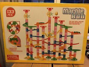 133Pcs Marble Run Race Set Construction Building Blocks Kids Toy Game Track Maze