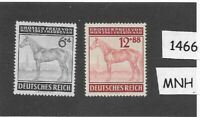 #1466    MNH stamp set / 1943 Third Reich / Vienna Gran Prix Horse Race  Germany