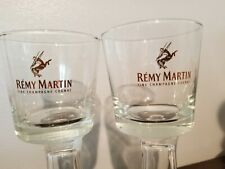 Lot of 2 REMY MARTIN gold letters FINE CHAMPAGNE COGNAC 3.25 GLASS rock glasses