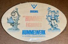 Vintage Goebel Original Hummel Figurines Store Display Sign Oval 14� Hummelwerk