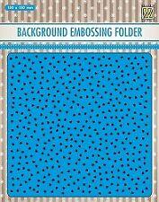Präge-folder Embossing-schablone Hintergrund smal hearts Herz Love Nellie EEB027