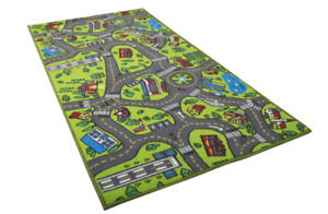 Carpet Playmat Rug City Life For Kids Baby Playing With Cars And Toys Fun Safely
