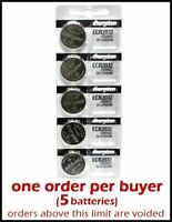 DEAL: 5 pcs Energizer CR2032 Lithium 3v battery 3.0 Volt Button Coin Batteries