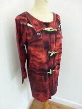 Paul Smith printed long sleeve tshirt dress M 10 VGC duffle coat image