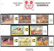 DOMINICA # 1494-1501 MHN DISNEY GOOFY ABOUT SPORTS