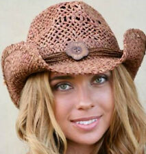 NEW Conner Hats Women's Western Maize Straw Shapeable Cowboy Hat Clay F5001