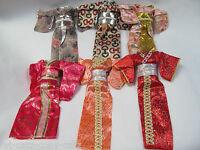 UNIQUE JAPANESE KIMONO BARBIE SINDY DOLL GEISHA OUTFIT DRESS 5 COLOURS UK SELLER