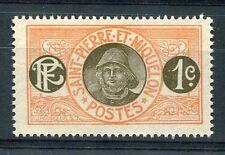 ST. PIERRE et MIQUELON, 1900-08, timbre 78, PECHEUR, neuf
