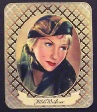 Hilda Weissner 1934 Garbaty Film Star Series 2 Embossed Cigarette Card #91
