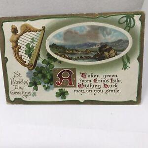 Vintage Postcard 1912 St Patrick's Day Greetings