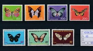 D147813 Ivory Coast Butterflies Nice selection of MH stamps